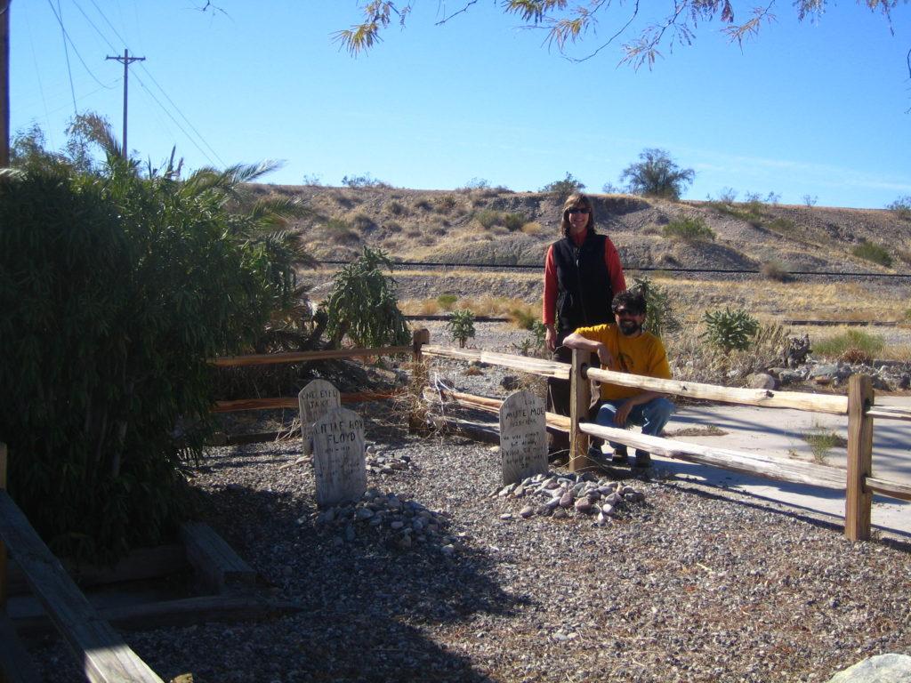Tombstones at Earp, CA 92242