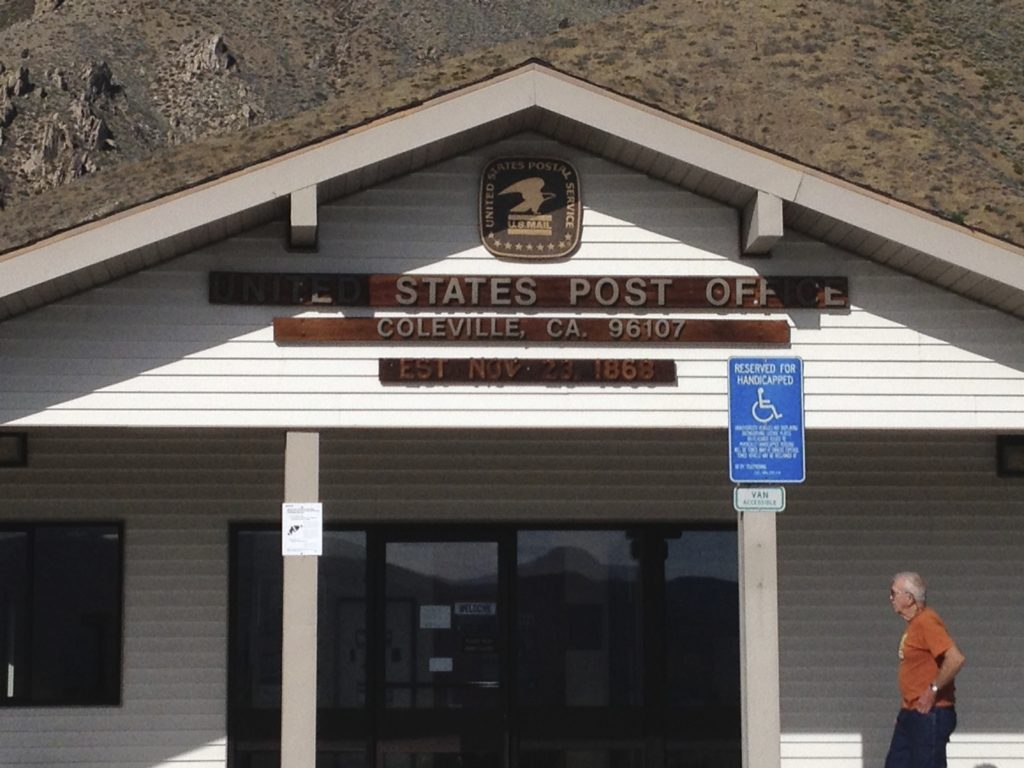 Coleville CA post office 96107