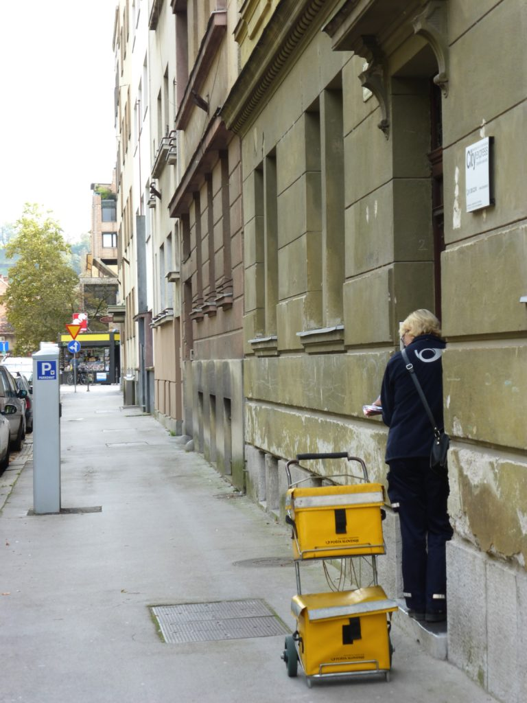 Postal delivery in Ljubljana Slovenia