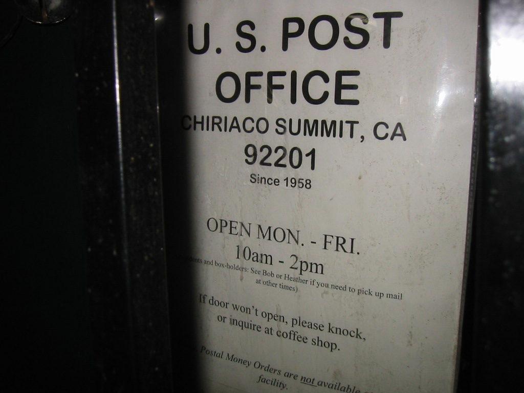 Chiriaco Summit, CA 92201